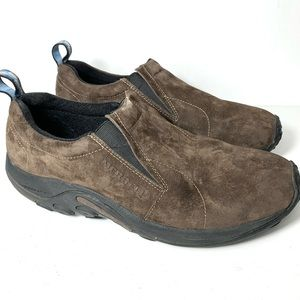 Merrell Jungle Moc Brown Leather Slip On Shoes 13